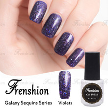 Frenshion Wholesale Fashion 3d Glitter Sequin Galaxy Sequins Violet No Label Uv Gel China Glaze Nail Polish Color Nail Supplies