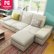 functional folding floor sofa with fabric