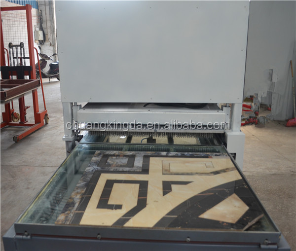 Providing waterjet tiles planish machine water jet