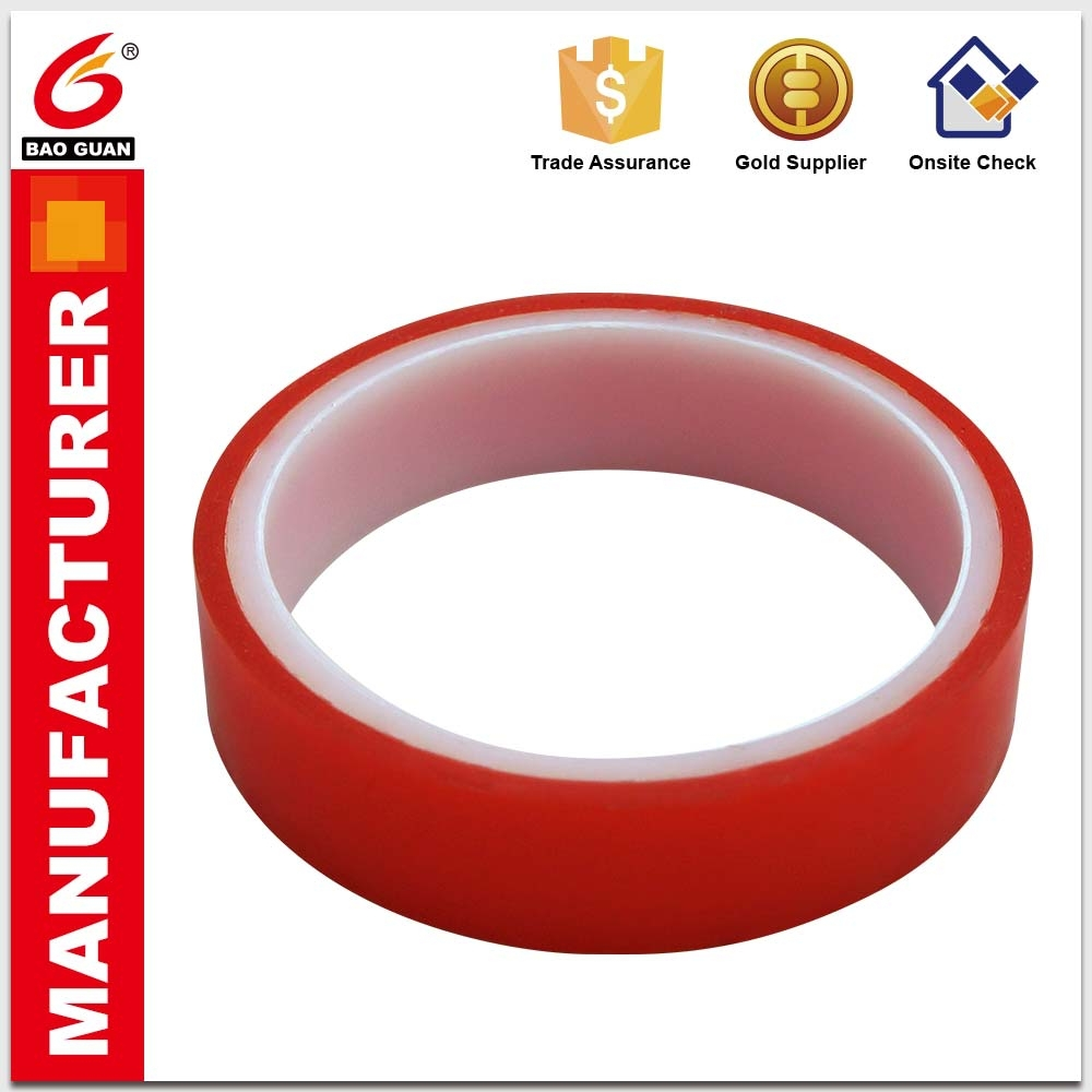 Reliable,Best Service Modified Solvent Base Double Sided PET Tape For Die-Cutting