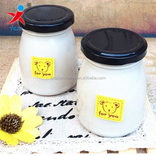 high resistance Yogurt containers with lid/The pudding cup of yogurt glass bottle