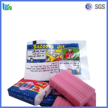 Hot selling Super Soft tattoo square Bazooka donald bubble gum