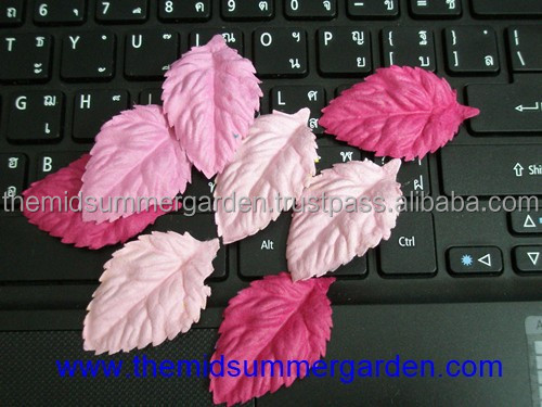 Handmade Paper Rose Leaves Flower and scrapbooking flower idea.