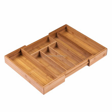 Kitchen Bamboo Cutlery/Silverware Storage Organization Tray