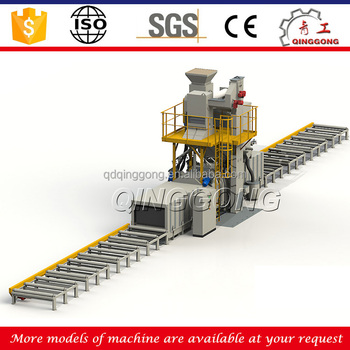 Dustless Through Type Roller Conveyor Shot Blasting Machine/Shot Blaster for removal rust
