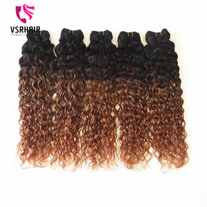 Top quality natural unprocessed cheap virgin brazilian body wave hair ombre crochet hair