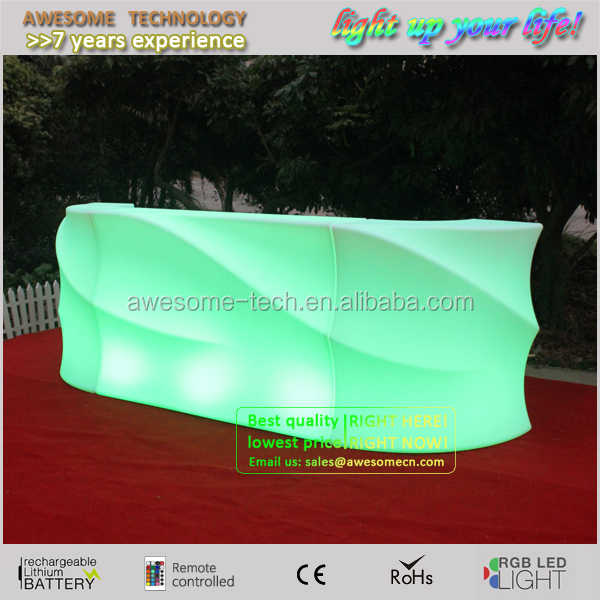 outdoor beach event party furntiure led design wirless rechargeable portable beach bar (BC180)