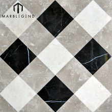 Custom modern waterjet marble tile indoor composite laminate marble flooring