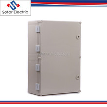600*500*195mm IP65 Transparent Hinged Plastic Enclosure for Power Supply