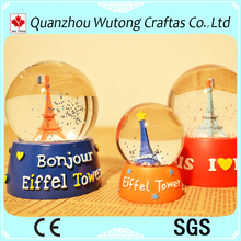 custom Eiffel Tower souvenirs snowball gifts for sale