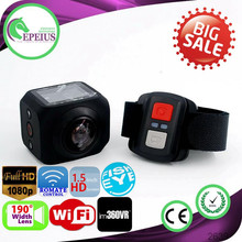 FACTORY OUTLETS R360 360 CAMERA VR REMOTE 190 DEGREE WIFI UNDER WATER 30M UNDER WATER 30M VR 360 OEM ACTION SPORT CAMERA