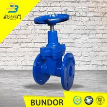 dn600 sewage astm a216 ci di body flanged water gate valve keys