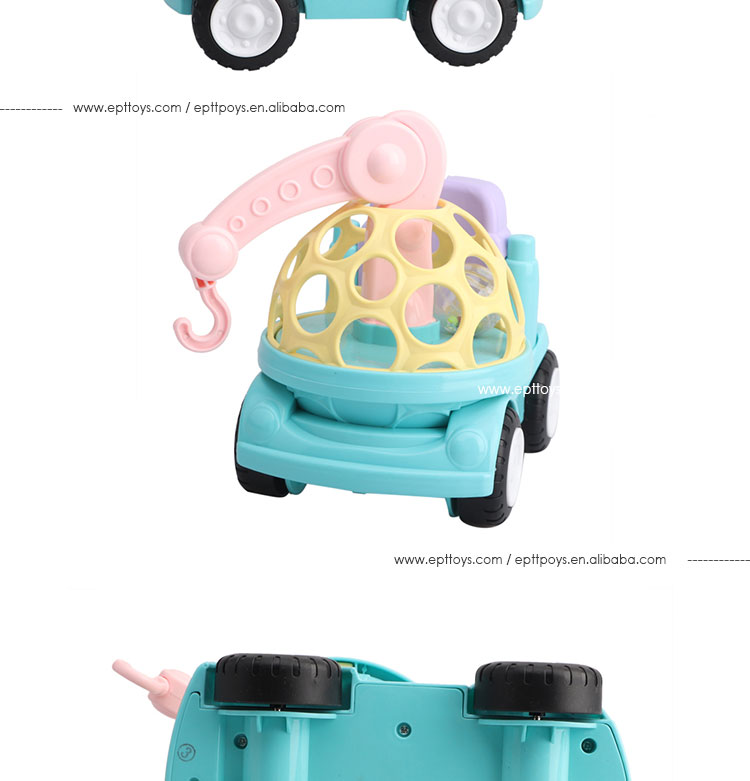 New design colorful cartoon baby toys car free wheel car for kids gift