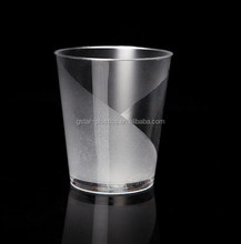 7oz 210ml Dull Polishing Clear PS Tea Glass Cup for Drinking Tea,Juice and Beverage