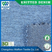wholesale twill knit denim fabric for jeans and pants