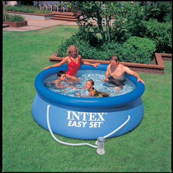 Famous brand intex swimming pool durable PVC forming fabric above ground swimming pool for hot sale
