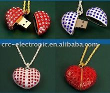 heart shape crystal USB Flash disk