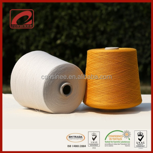 Consinee factory surplus cone undyed wool yarn for 100% wool sweaters