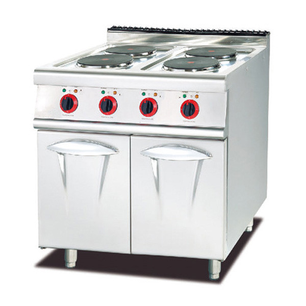 kitchen Equipment 4 Burner Hot Plate Electric cooking stove With cabinet for sale