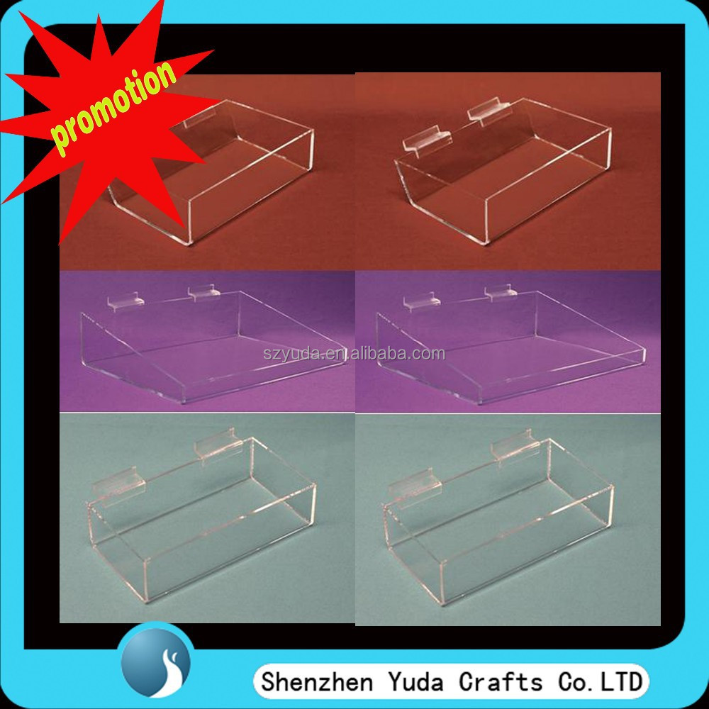 Various types of slatwall storage box, hanging clear acrylic display case