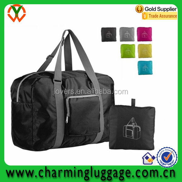 Water Resistant Nylon Foldable Travel Duffel Bag Luggage Sports Gym bag
