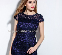 New style high quailty Sexy Embroidered elegant lady dress fashion thailand