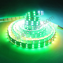 Addressable amusement decorative DC5V double rows 120 led/M full color strip led light