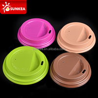 Multi Color custom disposable paper coffee cup plastic lid