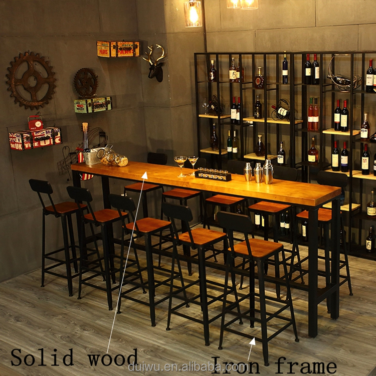 Wholesale Industrial bar furniture wrought iron high tables and bar stools
