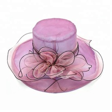 Hot Women Organza Church Fascinator Party Hat