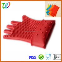 Heigh quality heat resistant BBQ silicone glove