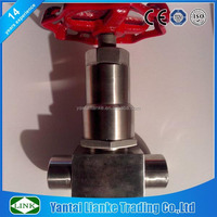 high pressure stainless steel cryogenic bellow PTFE Needle Valve