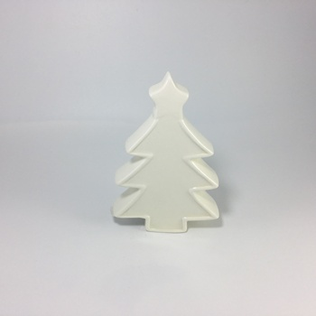 White ceramic Christmas tree with star on top
