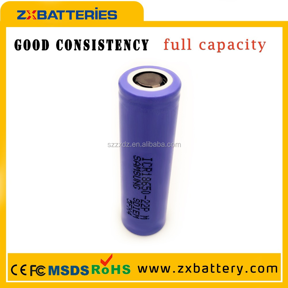 electronic cigarette battery samsung icr18650-22pm 2200mah 18650 li-ion battery,3.7v icr 18650 li-ion rechargeable battery