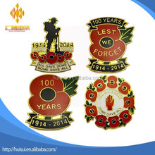 100 years Remembrance Day the First World War enamel poppy badge