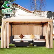 Factory hot sale heavy duty windproof and waterproof flat roof garden gazebo canopy