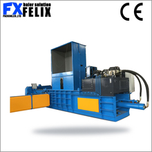 horizontal hydraulic square pine straw silage hay cardboard aluminum can baler machine baling press machine for sale