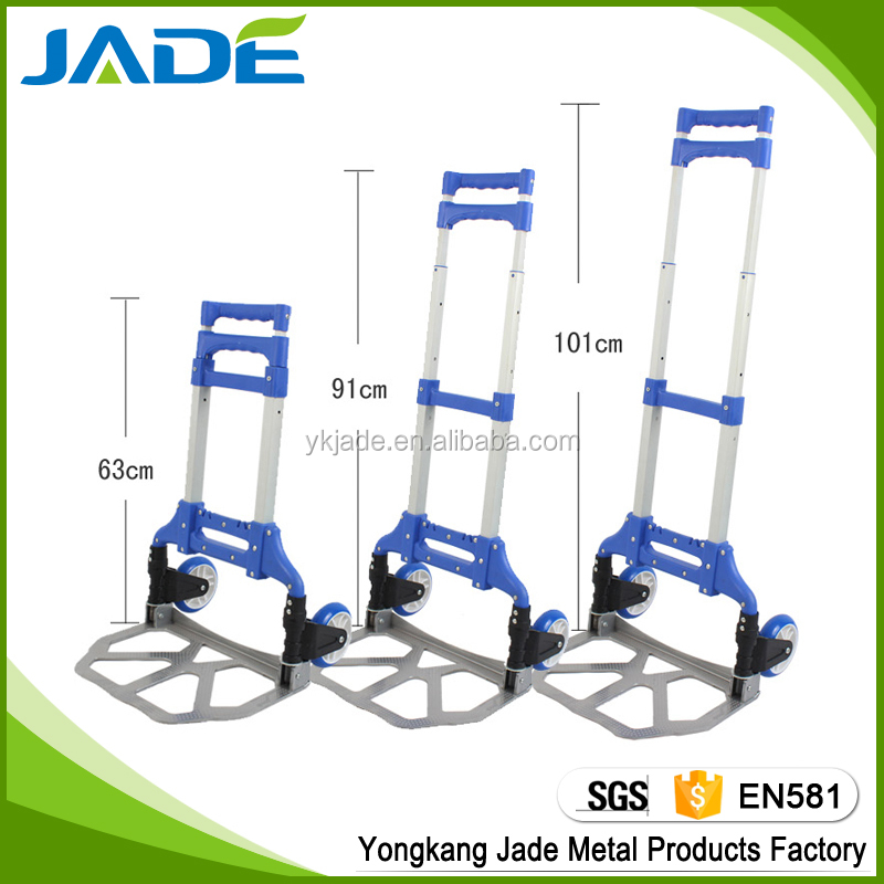 Trade Assurance easy carry colorful aluminum hand trolley, aluminum hand truck luggage cart for promotion