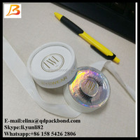 Custom printed round paper tube false eyelash box with brand name paper eyelash box manufacturers, suppliers