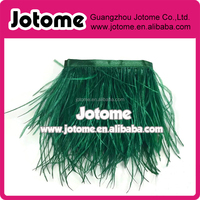 Ostrich Fringe , HUNTER GREEN Ostrich Fringe Trim Wholesale Feather