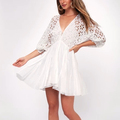Small Quantity Latest Design Woman Summer Beach Dress with V-back Design