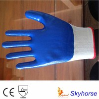 13G Polyester Liner Nitrile Hand Gloves With Palm Coated