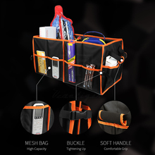 Large Two-Compartment Back Car Organizer , Tool Food Shopping goods Car Trunk Organizer packing Box