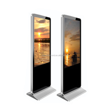 55 inch indoor floor stand alone advertising LCD display digital signage