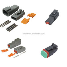 Car parts waterproof Electric Deutsch DT connector plugs dt06-2s 2 4 6 pin/pole auto wiring harness connectors with terminals