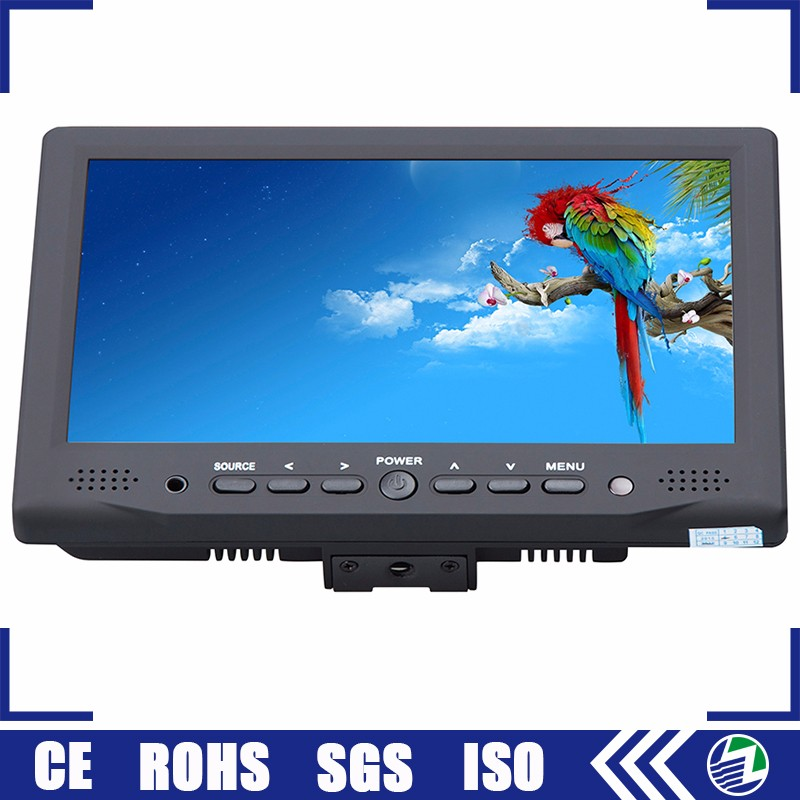 Guangzhou supplier field mini 12 volt 7 inches tft lcd color camera monitor with 12v dc input