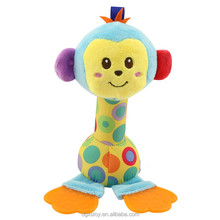 cute baby plush monkey teething toy for 0-3 years old infant