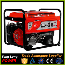 5kva generator made by china generator company with gasoline generator spare parts for sale