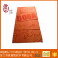orange nice look custom beach towel
