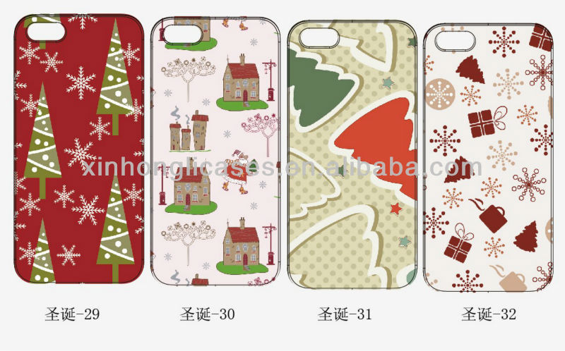 For iPhone 4 hard case, Christmas custom hard case for iPhone5